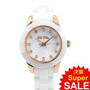 フォリフォリ Folli Follie 腕時計 レディース WF2R028BSS-XX セラミック ホワイト/ ローズゴールド 決算セール|pre-ma