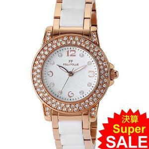 フォリフォリ Folli Follie 腕時計 レディース WF0B048BSS-XX ローズゴールド/セラミック GALA 30mm  決算セール|pre-ma