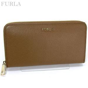 FURLA フルラ 長財布 ラウンドファスナー BABYLON XL / 851529 PR70 B30  NOCE/キャメルブラウン 新作|pre-ma