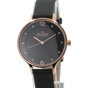SKAGEN スカーゲン 腕時計 レディース SKW2267  31mm ANITA グレーレザー【アウトレット】 pre-ma