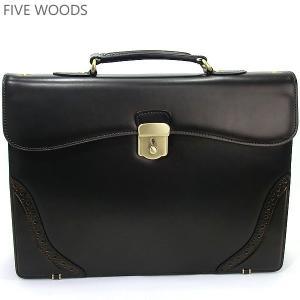 ファイブウッズ FIVE WOODS ビジネスバッグ/ブリーフケース DUKE 39153 ダークブラウン メンズ|pre-ma