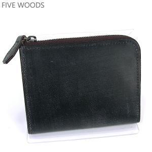 ファイブウッズ FIVE WOODS 財布 二つ折り 38041 モスグリーン メンズ ブライドルレザー|pre-ma