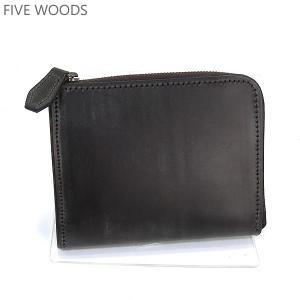 ファイブウッズ FIVE WOODS 財布 二つ折り 38041 ダークブラウン メンズ ブライドルレザー