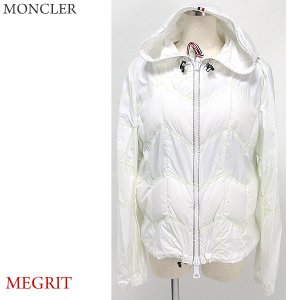 モンクレール ナイロン パーカー/ブルゾン レディース MONCLER MEGRIT  035/ホワイト  サイズ(4/L) 【アウトレット特価】|pre-ma