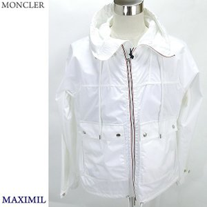MONCLER モンクレール ナイロンパーカー MAXIMILIENメンズ 001/ホワイト サイズ(3/L) MONCLER【アウトレット】|pre-ma