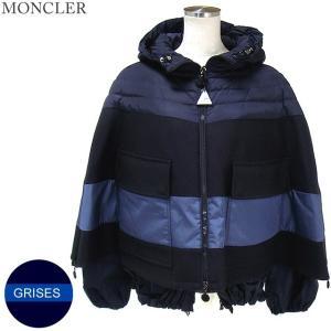 モンクレール  GRISES ダウンジャケット ポンチョ仕様 レディース 778/ネイビー サイズ(1)限定 MONCLER【アウトレット-n21】|pre-ma