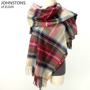 Johnstons ジョンストンズ カシミア ストール WA000056 KU0010 Hessian Dress Stewart 大判 195cm×74cm|pre-ma