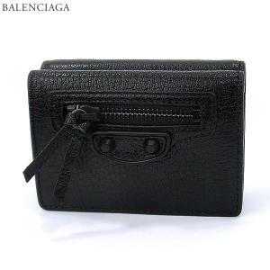BALENCIAGA バレンシアガ 財布 3つ折り CHEVRE470059 AQ407 1000/ブラック レディース【新品アウトレット】|pre-ma