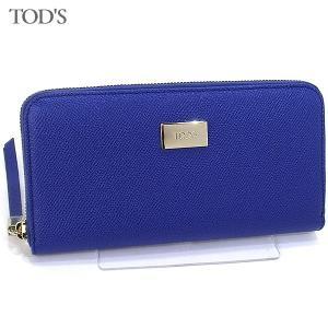 トッズ TOD'S 長財布 ラウンドジップ XAWDSPA0400 DOU U615/ブルー レディース|pre-ma