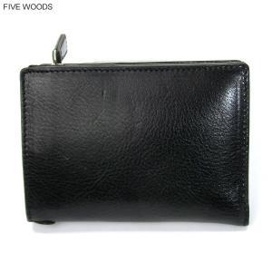 ファイブウッズ FIVE WOODS 財布 Lファスナー ショート 二つ折り GRAIN 38005 ブラック メンズ|pre-ma