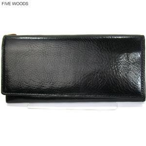 ファイブウッズ FIVE WOODS 長財布 二つ折り GRAIN 38009 ブラック メンズ|pre-ma