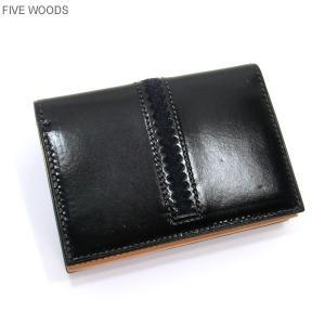 ファイブウッズ FIVE WOODS カードケース/名刺入れ TED'S 38021 ブラック メンズ|pre-ma