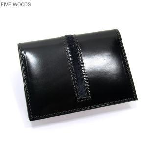ファイブウッズ FIVE WOODS パスケース/カード入れ TED'S 38022 ブラック メンズ|pre-ma