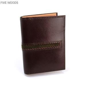 ファイブウッズ FIVE WOODS パスケース/カード入れ TED'S 38022 ボルドー メンズ|pre-ma
