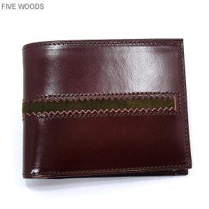 ファイブウッズ FIVE WOODS 財布 ショート 二つ折り TED'S 38023 ボルドー メンズ|pre-ma