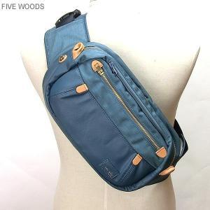 ファイブウッズ FIVE WOODS ボディバッグ L  PUBLIC 41202 ライトブルー メンズ|pre-ma