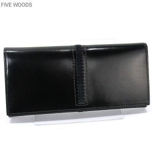 ファイブウッズ FIVE WOODS 長財布 二つ折り TED'S 38024 本革 ブラック メンズ 日本製|pre-ma
