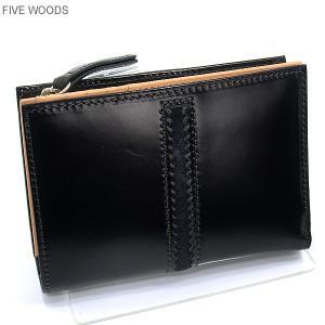 ファイブウッズ FIVE WOODS 財布 Lファスナー ショート 二つ折り TED'S 38025 ブラック メンズ|pre-ma