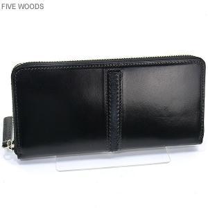 ファイブウッズ FIVE WOODS 長財布 ラウンドファスナー TED'S 38026 ブラック メンズ