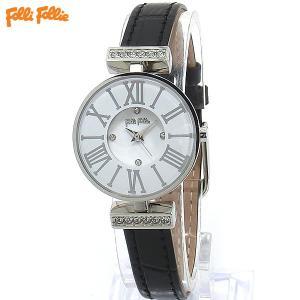 フォリフォリ Folli Follie 腕時計 レディース WF15A028SSW-BK ミニ ダイナスティ ブラックレザー|pre-ma