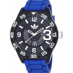 ADIDASアディダス 腕時計  ADH3112 ニューバーグ ブラック/ブルーラバー メンズ|pre-ma
