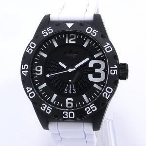 ADIDASアディダス 腕時計  ADH3136 ニューバーグ ブラック/ホワイトラバー メンズ|pre-ma