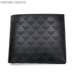 エンポリオ アルマーニ 財布 二つ折り YEM122 YC043 80001 メンズ EMPORIO ARMANI|pre-ma