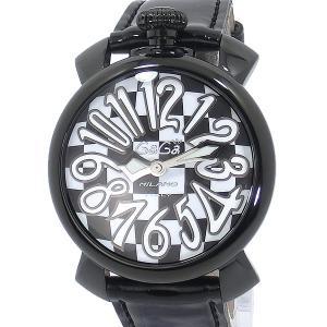 ガガミラノ GaGa MILANO 腕時計 5022.L.E.CH.1 MANUALE 40MM エナメルレザー チェス柄