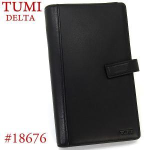 TUMI トゥミ アルティメット・トラベル・オーガナイザー 財布小物入れ DELTA 18676 D レザー ブラック|pre-ma