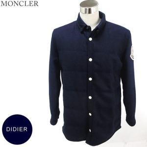 モンクレール DIDIER ウールコート 軽量ダウン入 メンズ 780/ネイビー  サイズ(2) 現品  MONCLER【アウトレット-H06】|pre-ma