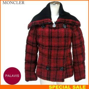 モンクレール  PALAVIS ダウン ジャケット モヘヤ レディース 438/レッド  MONCLER 新品 アウトレット-n36|pre-ma