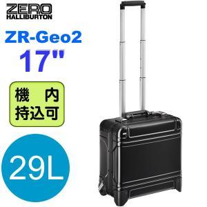 ゼロハリバートン トローリー/キャリーケース ZR-Geo2 ZRG217-BK ブラック アルミニウム 機内持込OK 29L 2輪 TSA
