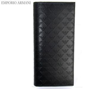 エンポリオ アルマーニ 長財布 二つ折り YEM474 YC043 80001 ロゴ型押し メンズ EMPORIO ARMANI|pre-ma