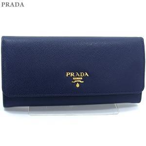 PRADA プラダ 財布 二つ折り長財布 1MH132 QWA F0016 SAFFIANO METAL BLUETTE/ブルー|pre-ma