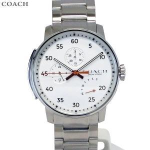 コーチ COACH  メンズ 腕時計 ブリーカー 14602358 シルバー 42mm デイデイト 決算SSP|pre-ma