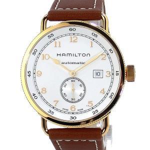 ハミルトン HAMILTON カーキ ネイビー パイオニア 腕時計 H77745553 自動巻 PG/WH  43mm 限定1点|pre-ma