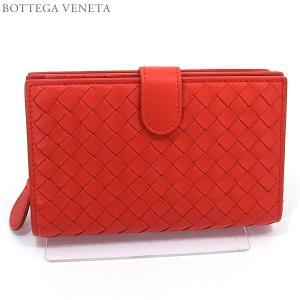 ボッテガヴェネタ 財布 二つ折り 短財布 121060 V001N 6506  VESUVIO/レッド BOTTEGA VENETA|pre-ma