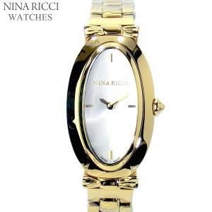 ニナリッチ NINA RICCI  腕時計 レディース N061006 オーバル イエローゴールド ステンレスベルト スイス製|pre-ma