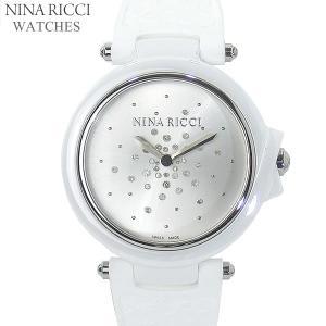 ニナリッチ NINA RICCI  腕時計 レディース N068001 ホワイト/シルバー セラミック&ラバーベルト スイス製|pre-ma