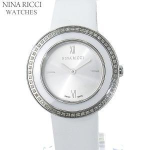 ニナリッチ NINA RICCI  腕時計 レディース N064007 SM 32mm シルバー ホワイトレザー スイス製|pre-ma