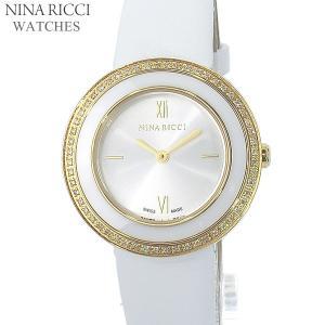 ニナリッチ NINA RICCI  腕時計 レディース N064009 SM 32mm ゴールド ホワイトレザー スイス製|pre-ma