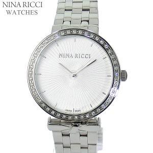 ニナリッチ NINA RICCI  腕時計 レディース N043009 SM 37mm  シルバー ステンレスベルト スイス製|pre-ma