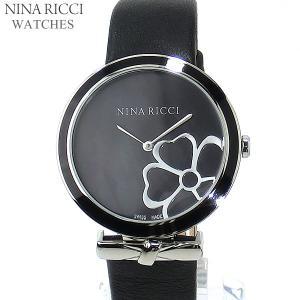ニナリッチ NINA RICCI  腕時計 レディース N043015 SM 36mm ブラック レザー スイス製|pre-ma