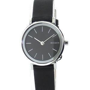 SKAGEN スカーゲン 腕時計 レディース SKW2442  シルバー/ブラックレザー【アウトレットSALE】|pre-ma