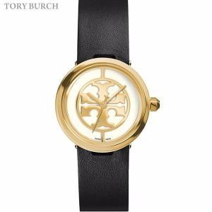 トリーバーチ 腕時計 レディース TRB4008  REVA 28mm ゴールド/ブラックレザー SWISS MADE 【新品アウトレット】|pre-ma