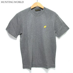 ハンティングワールド Tシャツ 半袖 メンズ C6096-PGY グレー イタリア製 コットン100%|pre-ma