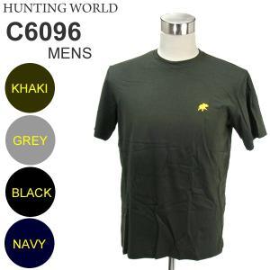 ハンティグワールド Tシャツ 半袖 メンズ C6096-PNV ネイビー イタリア製 コットン100%|pre-ma