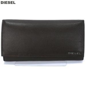 【アウトレット特価】ディーゼル DIESEL 長財布 二つ折り X04457 PR013 H6252 ダークブラウン 24 A DAY メンズ|pre-ma