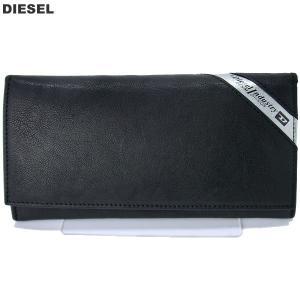 【アウトレット特価】ディーゼル DIESEL 長財布 二つ折り X03808 P1221 H6168 ブラック メンズ|pre-ma