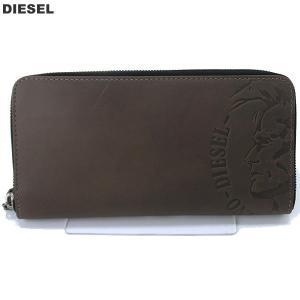 【アウトレット特価】ディーゼル DIESEL 長財布 ラウンドジップ X04762 PR160 H8014 グレーブラウン 24 ZIP メンズ|pre-ma